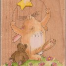 STARLIGHT, STARBRIGHT Wood Mounted RUBBER STAMP
