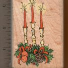CHRISTMAS CANDLES RUBBER STAMP