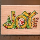 "ALL NIGHT MEDIA CHRISTMAS ""JOY"" RUBBER STAMP"