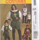 MCCALLS M5500 COSTUME PATTERN - MEN'S ADLT  KNIGHT, PRINCE AND  SAMURAI