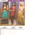 SIMPLICITY 4249 ADULT COSTUMES-GYPSY, HAREM, BELLY DANCER SZ 6 - 12