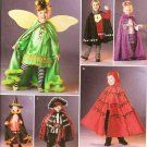 SIMPLICITY 2505 CHILD'S COSTUMES - FAIRY, NOBLEMAN, PRINCESS, WITCH, PIRATE DEVIL SIZE 3-8