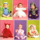 SIMPLICITY 2524 INFANT'S COSTUMES - BOY BLUE, ANGEL, SPACE CADET, DEVIL, SIZE 1 MO - 18 MOS