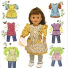 "Simplicity 2761 18"" Doll  Clothes & Aprons"