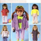 "Butterick B4089 Craft  Pattern 18"" Doll Wardrobe"