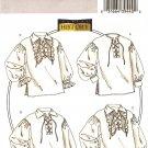 BUTTERICK B4486 MEN'S/MISSES' HISTORICAL SHIRTS XL, XXL, XXXL