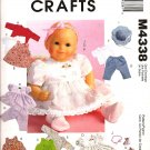 MCCALLS M4338 CRAFT PATTERN-DOLL CLOTHES