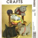 MCCALL'S M4893 CALICO PETS - CAT & PUPPY