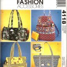 MCCALLS 4118  FASHION ACCESSORIES - HANDBAGS