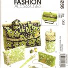 MCCALLS M6256 CRAFT PATTERN- PROJECT TOTE, ORIGANIZER, KINTTING NEEDLE, SCISSOR CASES & YARN HOLDER