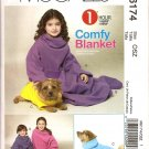 MCCALLS M6174 CHILDRENS', BOYS & GIRLS BLANKET, BOOTIES & DOG BLANKET.