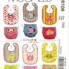 McCalls M6108 SEWING PATTERN FOR INFANTS' BIBS & DIAPER COVERS