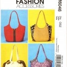 MCCALLS M6046  FASHION ACCESSORIES - HANDBAGS