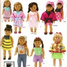 """Simplicity 0482 Craft Pattern for 18"""" Doll Clothes"""
