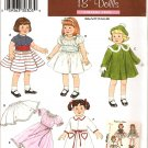 "Simplicity 3929 18"" Doll  Clothes Pattern"