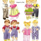 "Simplicity 4268 Craft Pattern for 15"" Doll Clothes."
