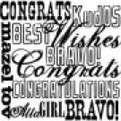 Inkadinkado Congrats! Clear Mini Stamp