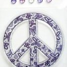 Scrappy Cat Everyday PEACE Symbol Clear Stamp JEWELS