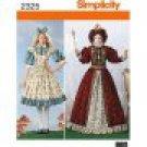 SIMPLICITY 0411 MISSES COSTUME-Alice in Wonderland, Queen of Hearts