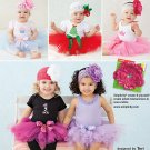 SIMPLICITY 1956 Sewing Pattern for Babies Tutu and appliques SZ 1 month to 18 months