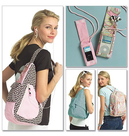 BUTTERICK B5054 Young Adult Backpacks and Mp3 Player Cover