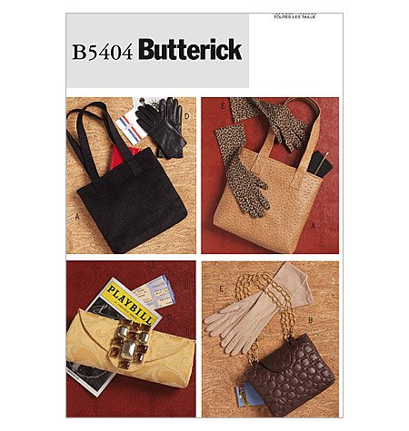 BUTTERICK B5404 Hand Bags and Gloves