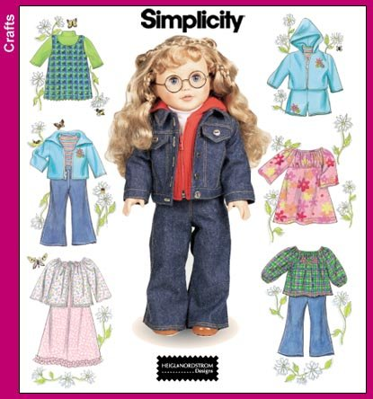 SIMPLICITY  7083 Wardrobe for 18 Inch Dolls