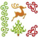 Spellbinders SHAPEABILITIES Fanciful Holiday Christmas Die Template S4-287