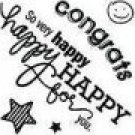 BASICGREY Congrats! Clear Mini Stamp STA-2323