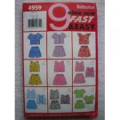 BUTTERICK 4959 CHILDREN'S/GIRLS TOP, & SHORTS