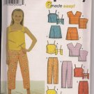 SIMPLICITY 9780 GIRLS' TOP, CAPRI PANTS & SKIRT