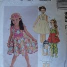 MCCALLS 8683 CHILDRENS' AND GIRLS' DRESS, TOP, PANTS AND SHORTS