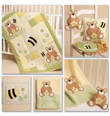 MCCALLS M5900 Wall Hanging, Pillow, Toy, Bib, Blanket and Quilt