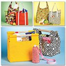 MCCALLS M5898 Sewing Pattern for Market Totes and Bottle Carrier