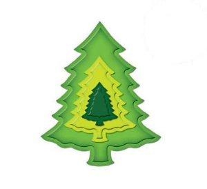 Spellbinders SHAPEABILITIES Nested Pine Trees Die Template S4220