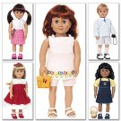 "BUTTERICK B3491 18"" (46cm) Doll Clothes"
