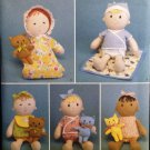 """Simplicity 2809 Craft Sewing Pattern for 15"""" Doll, Clothes & 6 1/2 inch cat or bear"""