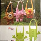 Simplicity 1386 FLEECE ANIMAL BAGS- BEAR, PIG, DUCK & DINOSAUR