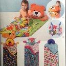 Simplicity 1389 Child's Nap Pack Pattern Bear Lion Owl or neck pillow - uncut -