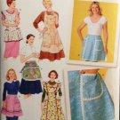 SIMPLICITY 4282 Misses' Vintage Aprons Size  S,M,L