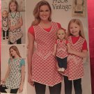 "SIMPLICITY J0204 CHILDS & MISSES' APRONS & APRON FOR 18"" DOLL"