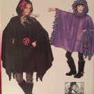 SIMPLICITY J0206, CHLD/GIRLS & MISSES' FLEECE PONCHOS  CH/GRL SZ 4-14, MS'  SZ 10/12, 14/16, 18/20