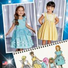 SIMPLICITY 1171 SEWING PATTERN FOR CHILD'S DRESS W/BODICE, SKIRT & TRIM SZ 1/2, 1, 2, 3