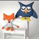 SIMPLICITY 1270  Stuffed Owl and Fox
