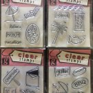 Studio G  Lot of 4 Clear Stamps pkgs - Vacation, Grilling, Tropical Island and Camping
