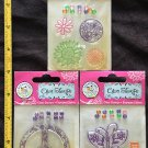 Scrappy Cat  Lot of 3 Clear Stamps pkgs - flowers, peace sign, butterfly