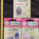 Scrappy Cat  Lot of 3 Clear Stamps pkgs - Birthday Cake, Cup Cake