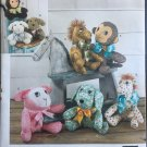 SIMPLICITY 1603 Craft Sewing Pattern for 2 piece Stuffed Animals