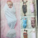 Simplicity 1898 Sewing Pattern for Babies' Swaddling Sacs and Hats, Size 7lbs to 24LBS