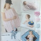 Simplicity 2165 Sewing Pattern for Baby Accessories... Diaper cover in 3 sizes